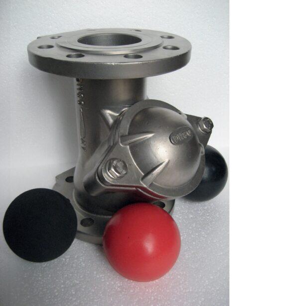 Edelstahl- Kugelrückflussverhinderer Flansch EPDM