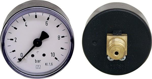 Rohrfedermanometer DM 63mm – Anschluss hinten