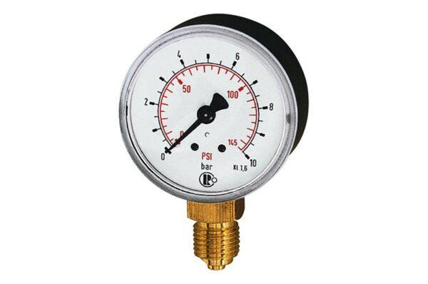 Rohrfedermanometer DM 63mm Anschluss unten